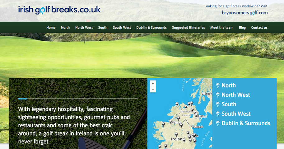Irish Golf Breaks website image